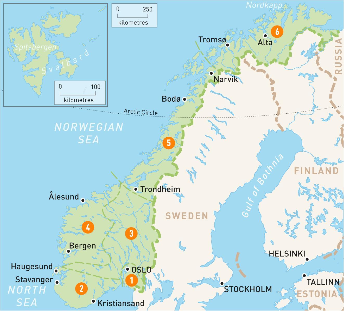 Alta Norja Kartta Kartan Alta Norja Pohjois Eurooppa Eurooppa
