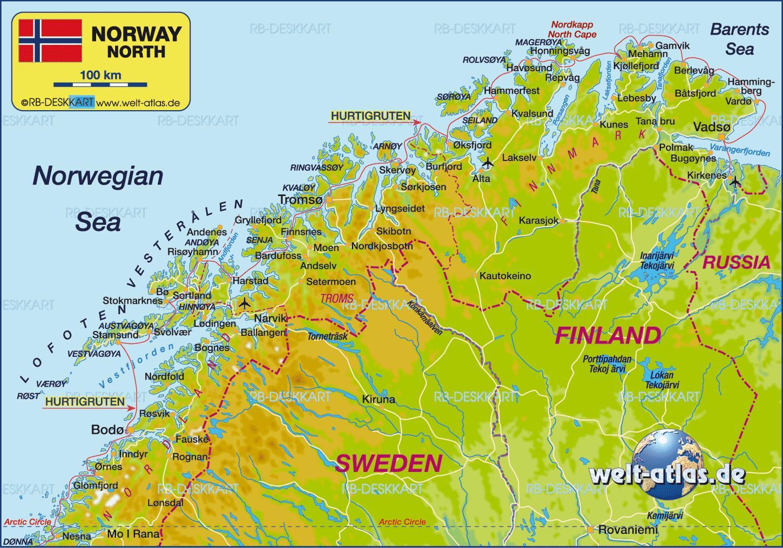 Kirkenes Norja Kartta Kartta Kirkenes Norja Pohjois Eurooppa