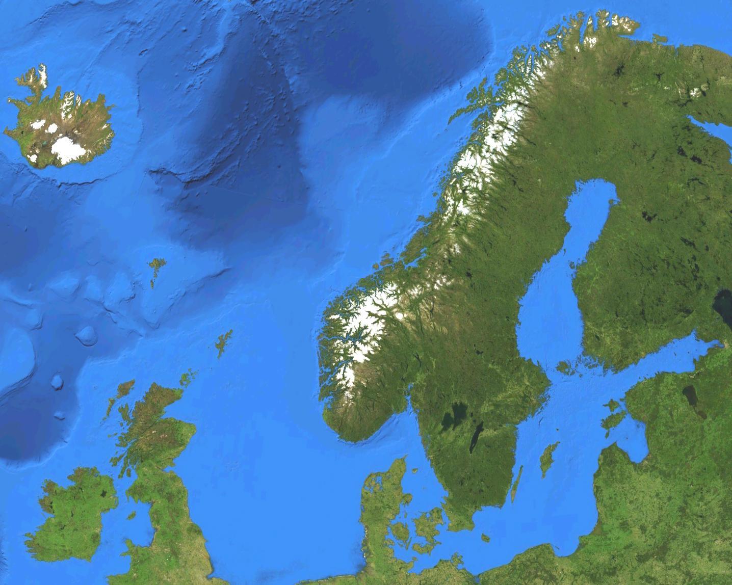 Norja Satelliitti Kartta Kartta Norjan Satelliitti Pohjois
