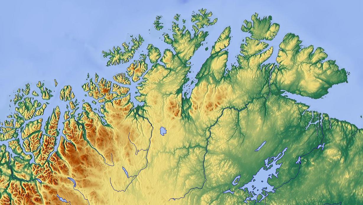 Pohjois Norjan Kartta Pohjois Norja Kartta Pohjois Eurooppa