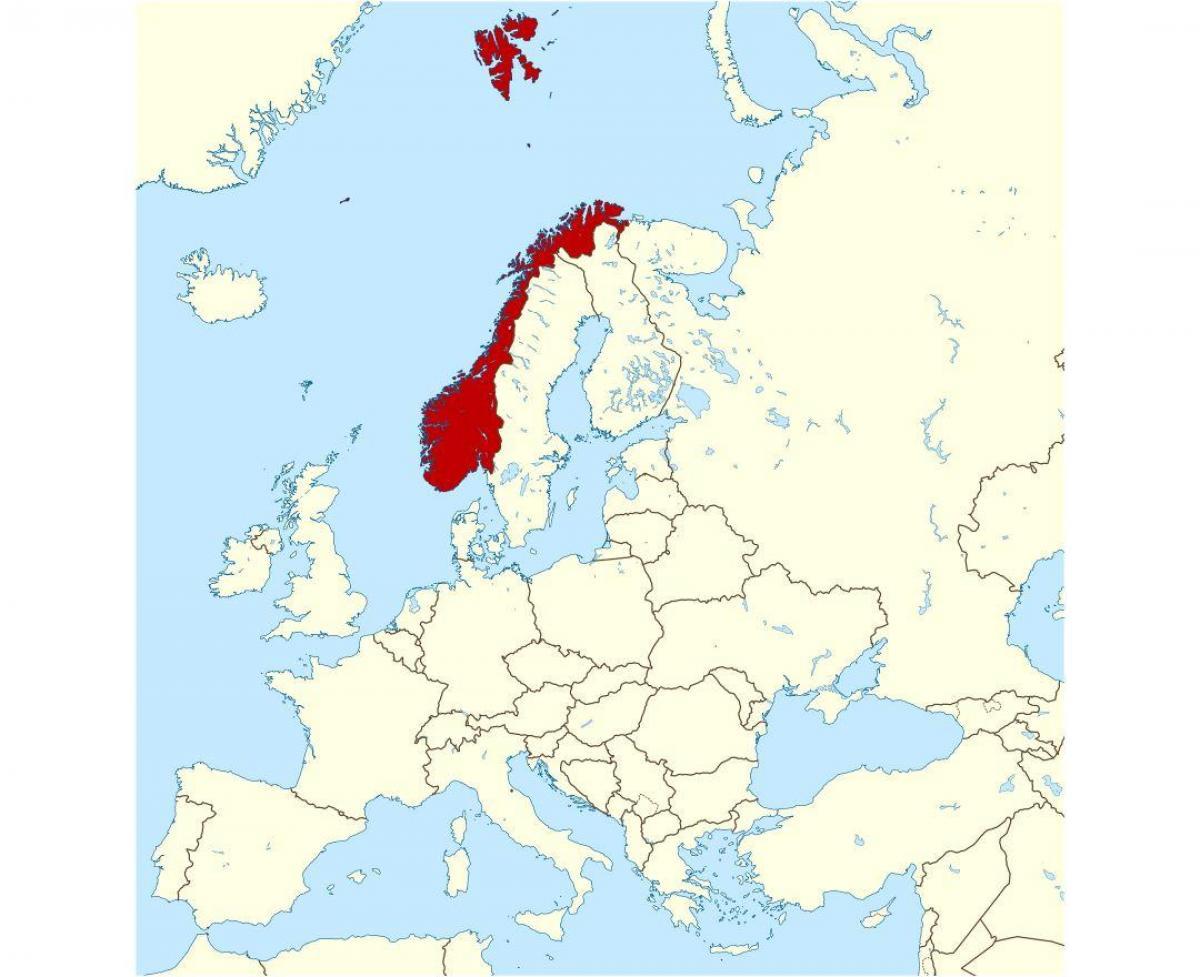 Kartta Norjan Ja Ymparoivat Maat Norja Sijainti Kartalla