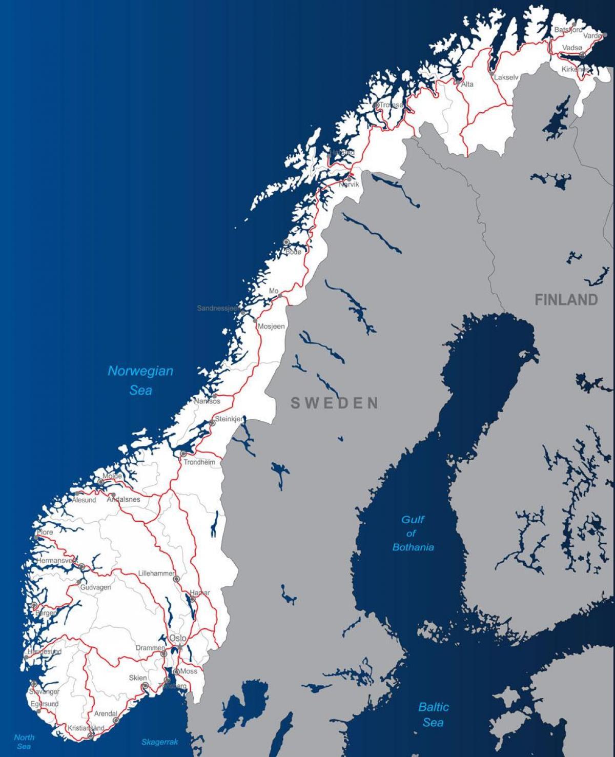 Norjan Tietullit Kartta Toll Tiet Norja Kartta Pohjois Eurooppa