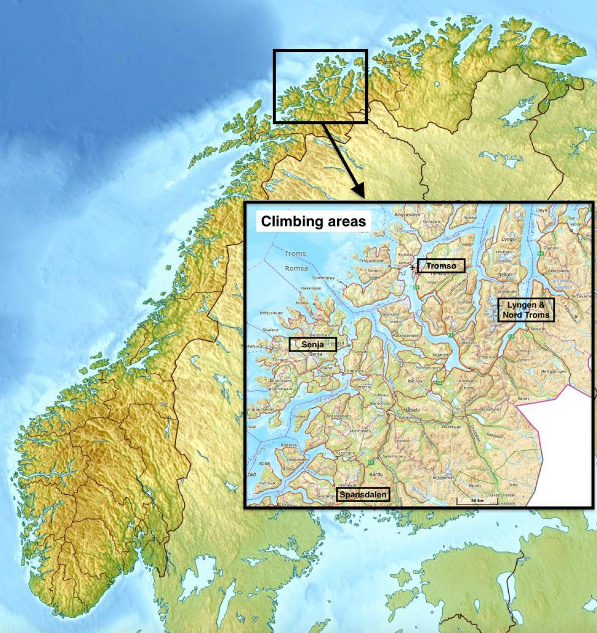 Tromssa Norja Kartta Tromssa Norja Kartta Pohjois Eurooppa
